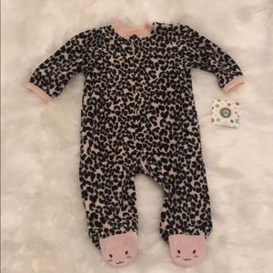 NWT Leopard and Pink 🐆 Little Me Girls Sleeper